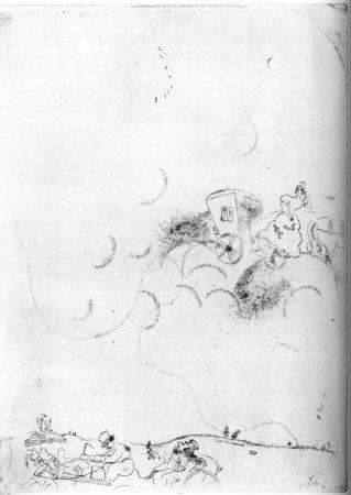 Aguafuerte Chagall - Cicicov's Dream