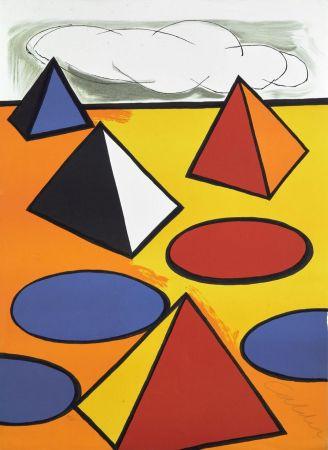 Litografía Calder - Ciel d'orage - 1976
