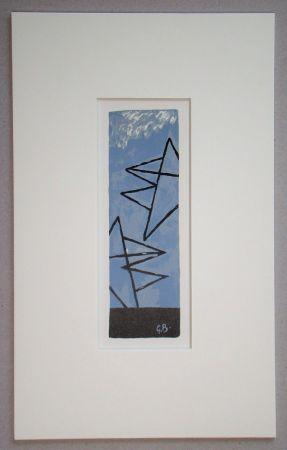 Litografía Braque (After) - Ciel Gris II.