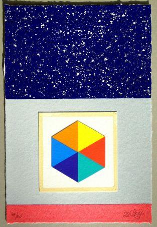 Serigrafía Del Pezzo - Cielo stellato