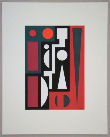 Serigrafía Herbin - Cinq, 1954
