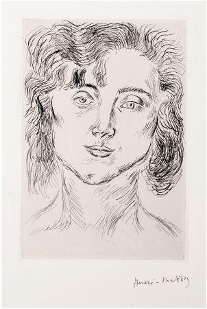 Aguafuerte Matisse - CINQUANTE DESSINS. GRAVURE ORIGINALE SIGNÉE : La fille de l'artiste (1920).