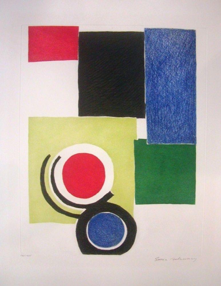 Grabado Delaunay - Circle Composition