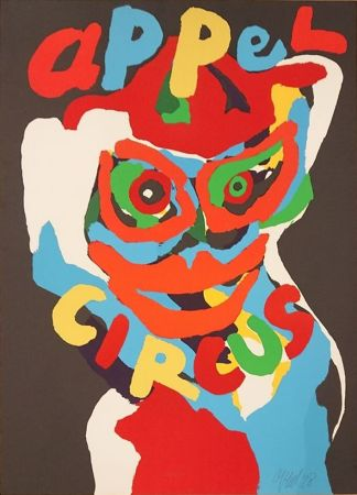 Litografía Appel - Circus