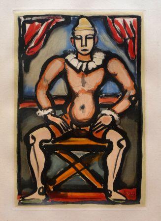 Aguatinta Rouault - Cirque de L'Etoile Filante: Enfant de la Balle