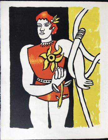 Litografía Leger - Cirque : Jongleuse au Tournesol. 1950