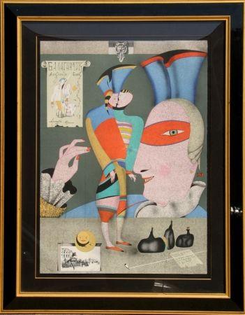Litografía Chemiakin - Cirque Russe I