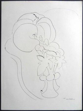 Litografía Matisse - Citrouille et Fleurs