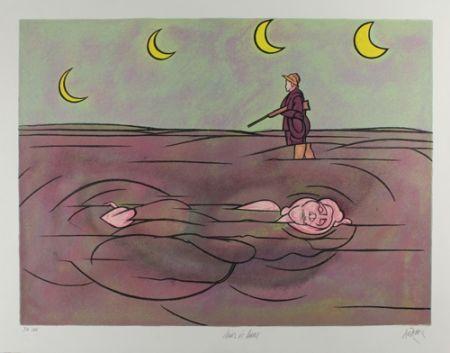 Litografía Adami - Clair de lune