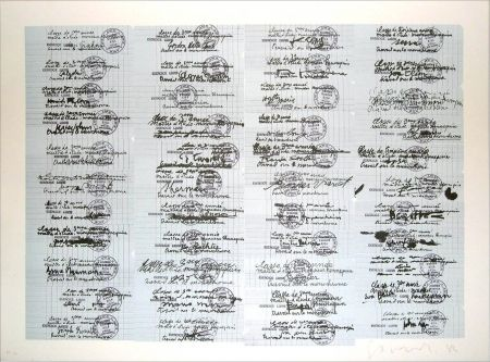Litografía Gasiorowski - Classe de 3ème