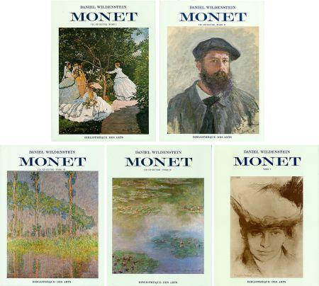 Libro Ilustrado Monet - CLAUDE MONET. CATALOGUE RAISONNÉ (Peintures, pastels et dessins). 5 volumes. 1974-1991