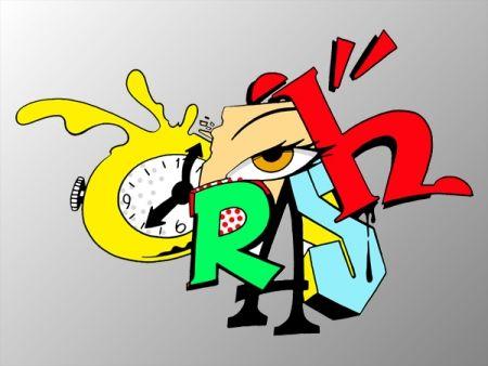 Serigrafía Crash - Clock 2