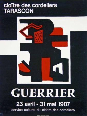 Litografía Guerrier - Cloitre des Cordeliers Tarascon