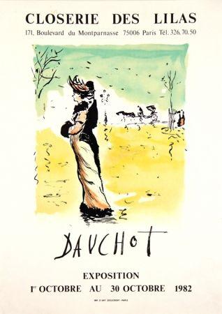 Litografía Dauchot - Closerie des Lilas