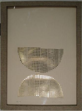 Serigrafía Vasarely - Code avec en regard des oeuvres originales de Vasarely