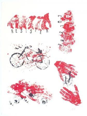 Litografía Arman - Colère, Résister