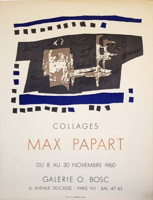 Litografía Papart - Collages Galerie O  Bosc