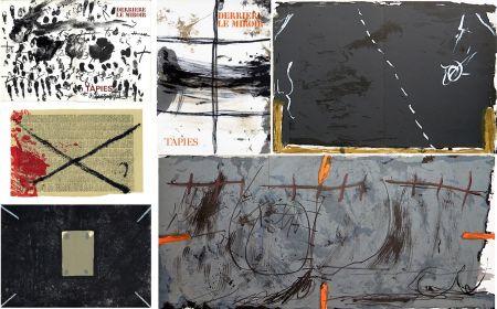 Libro Ilustrado Tàpies - COLLECTION COMPLÈTE des 7 volumes de la revue DERRIÈRE LE MIROIR consacrés à Antoni Tàpies: 30 LITHOGRAPHIES (de 1967 à 1982).