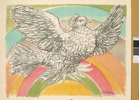 Litografía Picasso - Colombe à l'arc-en-ciel