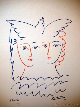 Litografía Picasso - Colome 1956