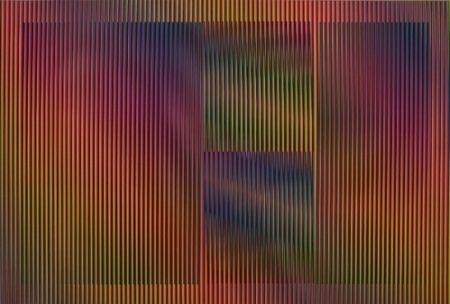 Litografía Cruz-Diez - Color aditivo Cantarrana 2