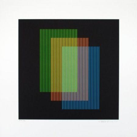 Litografía Cruz-Diez - Color aditivo Ramblas 1963-2011