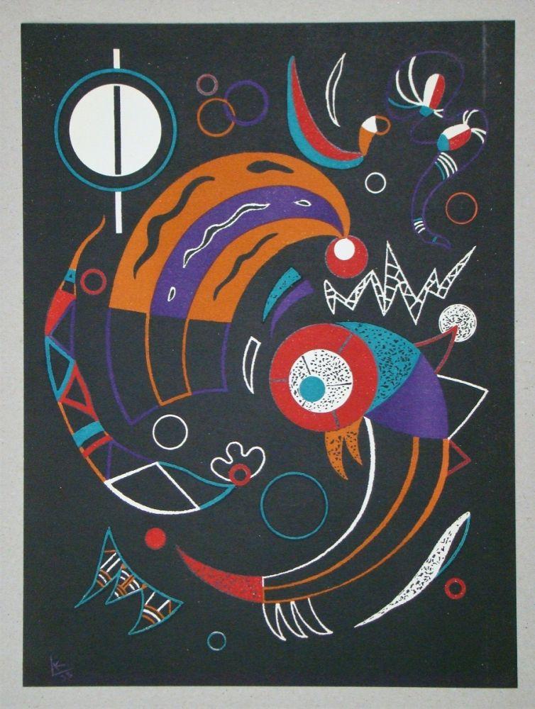 Litografía Kandinsky - Comètes