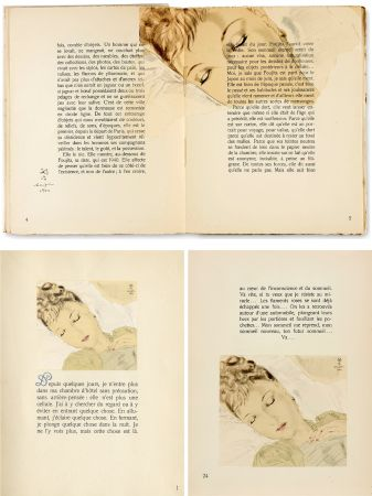 Libro Ilustrado Foujita - COMBAT AVEC L'IMAGE. (J. Giraudoux) Avec un dessin de Foujita (1941).