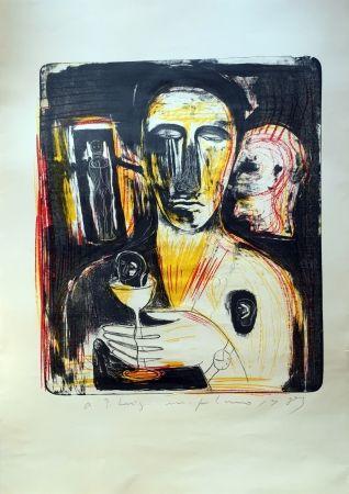 Litografía Paladino - Come In Uno Specchio
