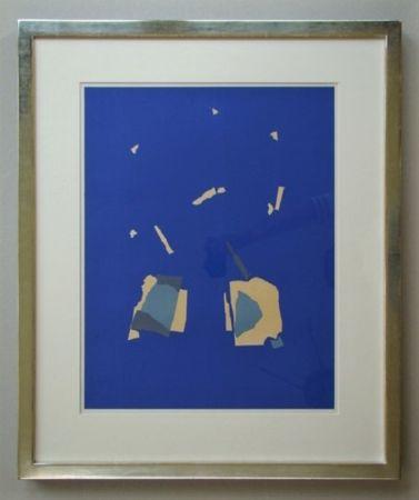 Litografía De Stael - Comosition sur fond bleu