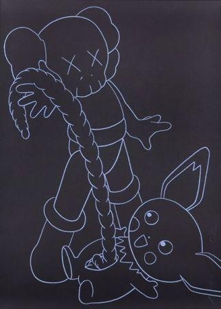Serigrafía Kaws - Companion vs. Pikachu