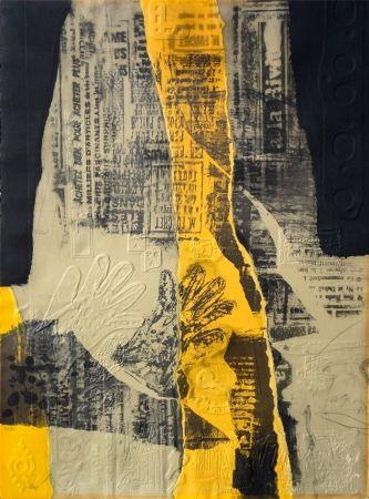 Aguafuerte Clavé - Composición con Amarillo