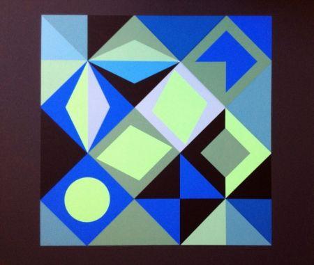 Litografía Vasarely - COMPOSICION