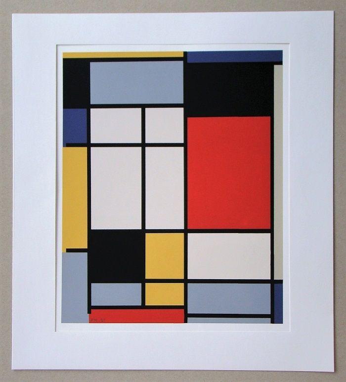 Serigrafía Mondrian - Compositie - 1921