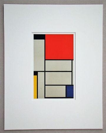 Litografía Mondrian - Compositie Met Rood, Geel, Blauw, Zwart En Grijs