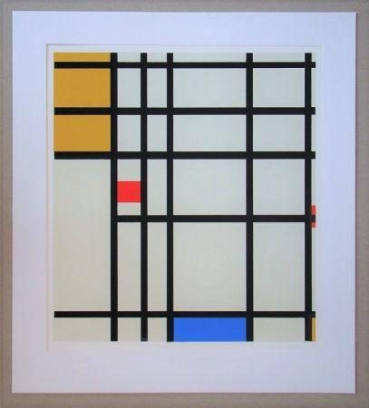 Serigrafía Mondrian - Compositie met rood, geel en blauw - 1936/43