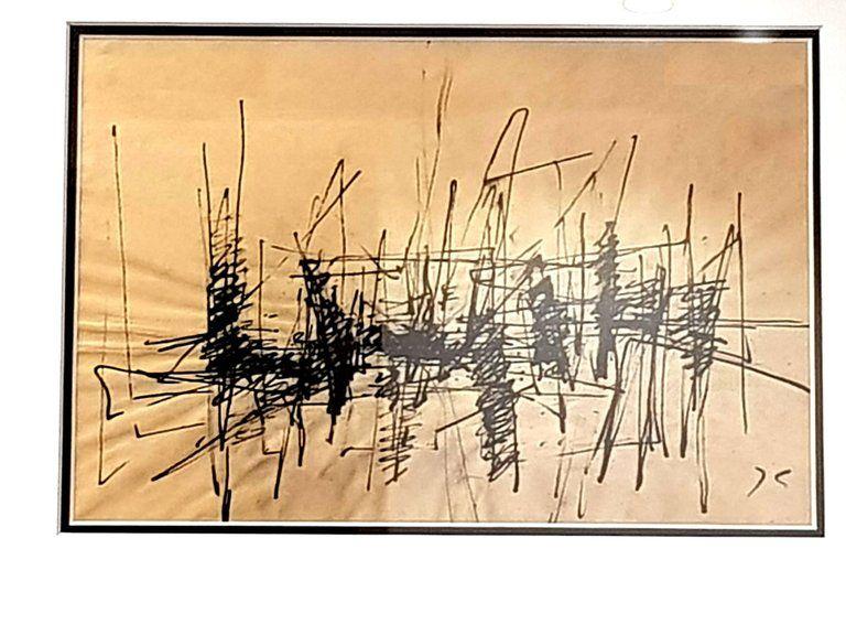 Litografía Germain - Composition