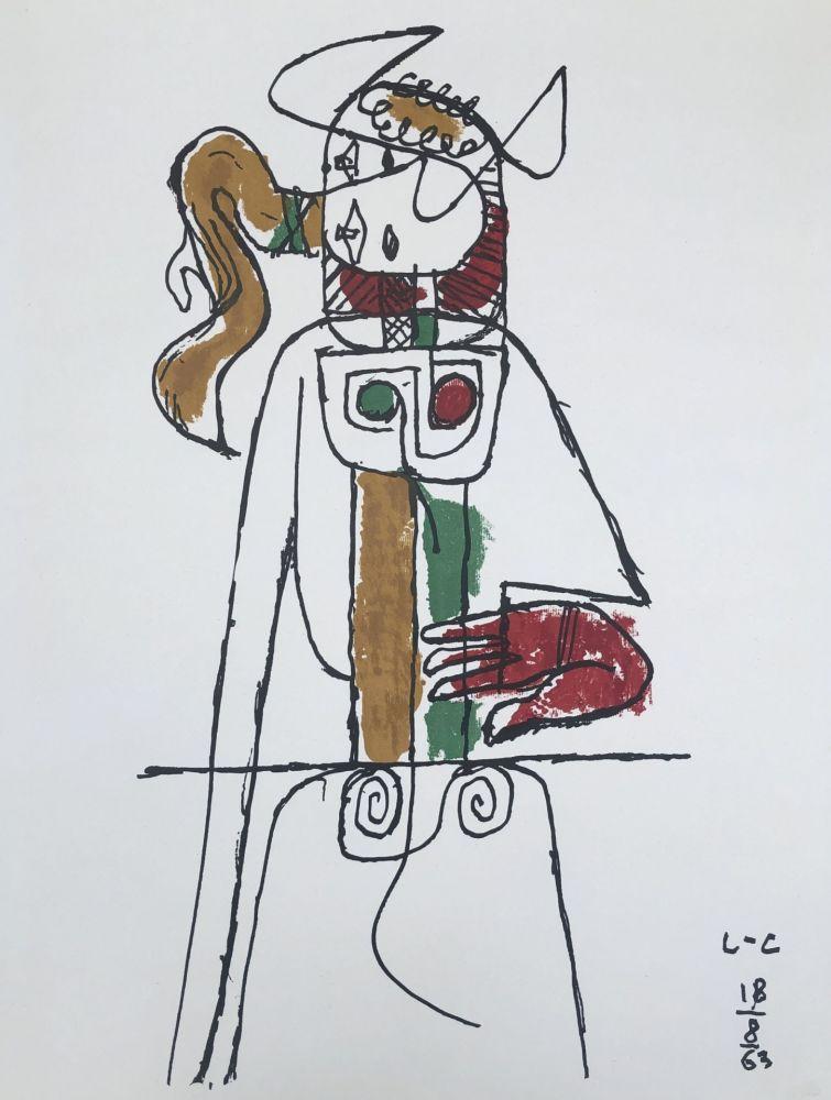 Litografía Le Corbusier - Composition