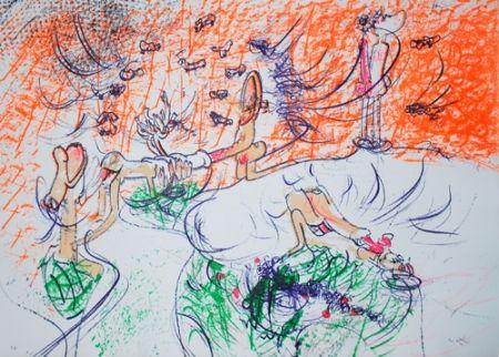 Litografía Matta - Composition
