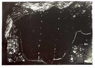 Litografía Tàpies - Composition