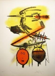 Litografía Lam - Composition