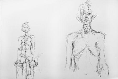 Litografía Giacometti - Composition