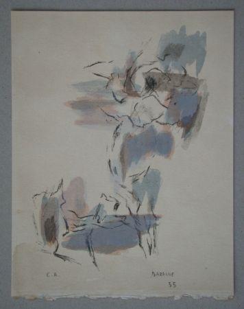 Litografía Bazaine - Composition