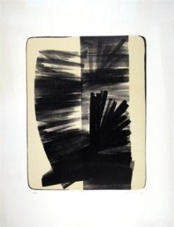 Litografía Hartung - Composition