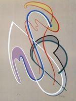 Litografía Domela - Composition
