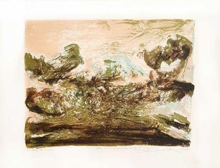 Litografía Zao - Composition