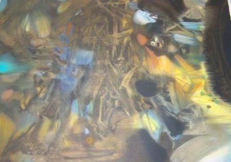 Litografía Chu Teh Chun  - Composition