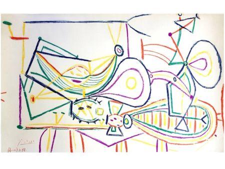 Litografía Picasso - Composition