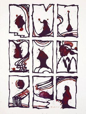 Litografía Alechinsky - Composition