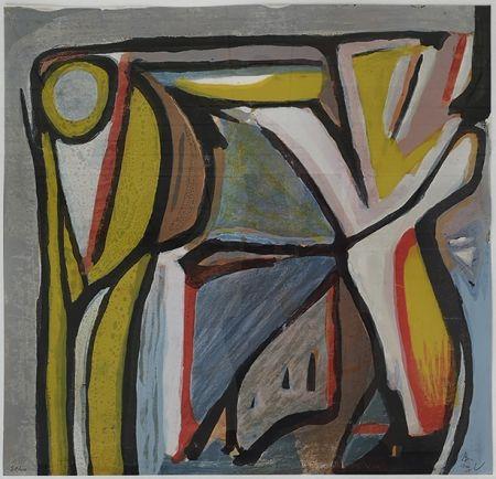 Litografía Van Velde - Composition